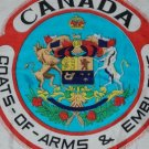 Vintage 1940's Canadian Coats of Arms & Emblems Scarf