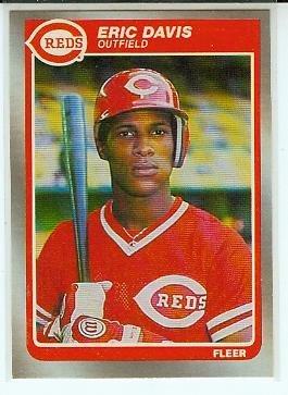 1985 Fleer #533 Reds Eric Davis RC