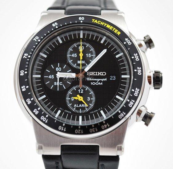 Seiko Motor Sports chrono Black Dial Date WR100m SNAA49