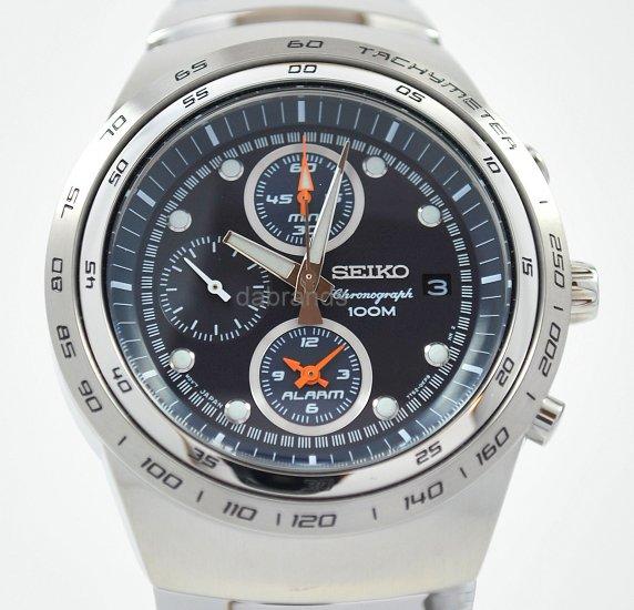 Seiko Sports Navy Blue Dial Chrono WR100m Watch SNAA83