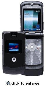 Motorola RAZR V3 Black Unlocked GSM Cell Phone