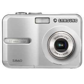 Samsung S860 8.1MP Digital Camera with 3x Optical Zoom (Silver)