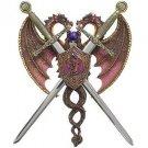 Dual Dragon Sword Plaque