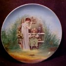 VICTORIA AUSTRIA CHINA PLAQUE BIRD CAGE MOTHER AND CHILD
