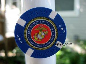 MILITARY NAVY MARINES POKER CHIP FRIDGE MAGNET STRONG!