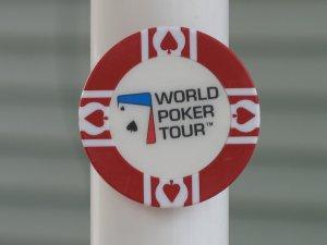WPT WORLD POKER TOUR POKER CHIP FRIDGE MAGNET STRONG! RED