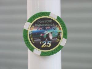 PORSCHE PANAMERICA EXOTIC CARS $25 POKER CHIP FRIDGE MAGNET STRONG!