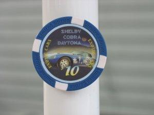 SHELBY COBRA EXOTIC CARS $10 POKER CHIP FRIDGE MAGNET STRONG!