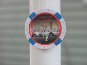 FERRARI TESTAROSA EXOTIC CARS $1 POKER CHIP FRIDGE MAGNET STRONG!