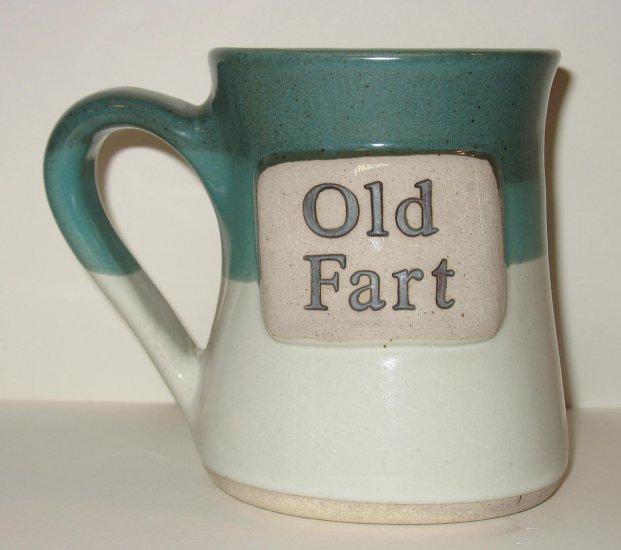 OLD FART COFFEE MUG BEER STEIN TUMBLEWEED POTTERY NEW!