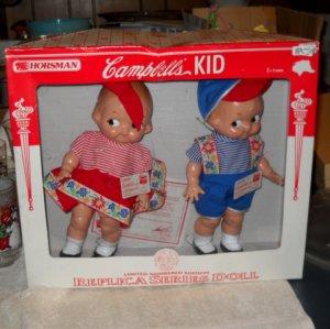 15% off  Set 2 CAMPBELLs KIDS Soup DOLLS HORSMAN 12in Ltd Ed '97