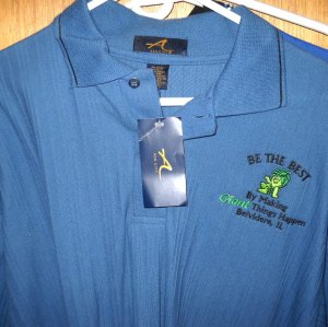 SPROUT Pillsbury Blue POLO ss SHIRT Men's XL NEW with Tags