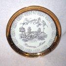 Vintage NIAGARA CAVE Harmony Minn PLATE Decor 22k Gold