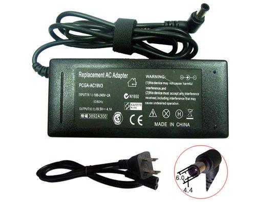 AC Power Adapter for Sony Vaio VGN-FJ67SP/W VGN-FJ78GP
