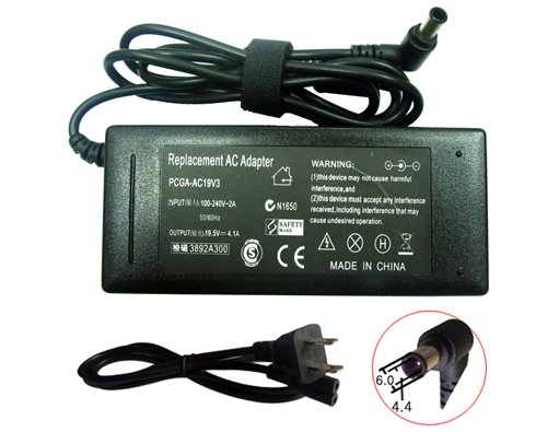 Laptop NEW AC Adapter+Power Cord for Sony VGP-AC19V10