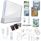 "Nintendo Wii White ""Holiday Fun"" Bundle With...."