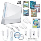 Nintendo Wii White Holiday Family Bundle with....