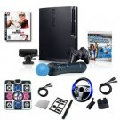 "Sony Playstation 3 320GB Move ""Super Bundle""- Wheel, Dance Pad, Cables, and More"