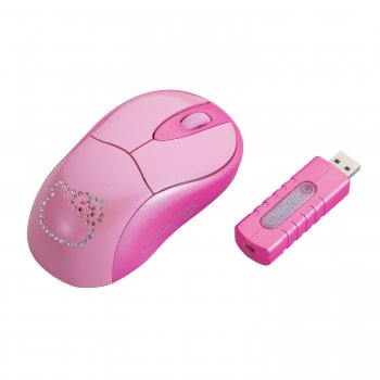 Hello Kitty Wireless Mouse with RF Receiver.