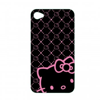 Hello Kitty KT4488BK4 Polycarbonate Wrap for iPhone 4.