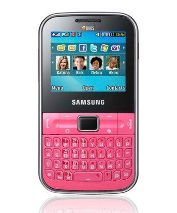 Samsung C3222 Chat GSM Quadband Phone (Unlocked) Pink.