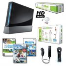 "Nintendo Wii Black ""Ski Fit Plus"" HD Ready Bundle."