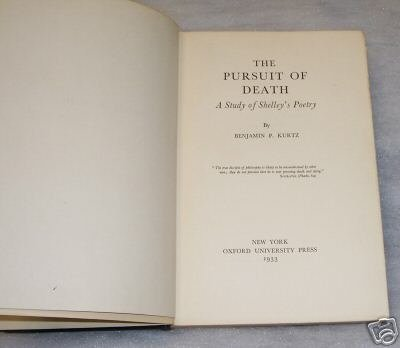 The Pursuit of Death - A Study of Shelleys Poetry