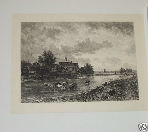 Parthie near Lundenberg Steel Engraving 1800's