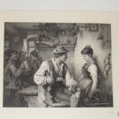 In Love Steel Engraving 1800's