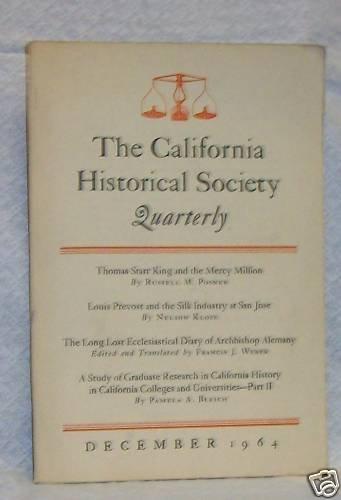 California Historical Society Quarterly, December 1964
