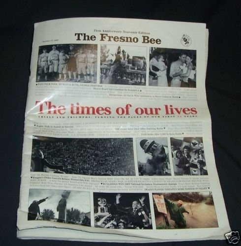 Fresno Bee  Fresno 75th Anniversary Newspaper  insert