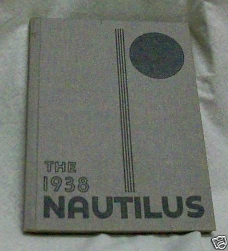 1938 Yearbook Roosevelt High School Fresno  Nautilus