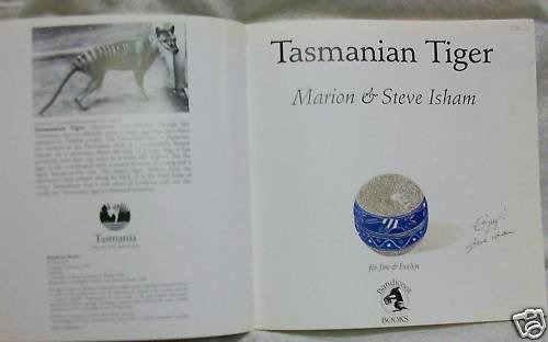 Tasmanian Tiger  Signed