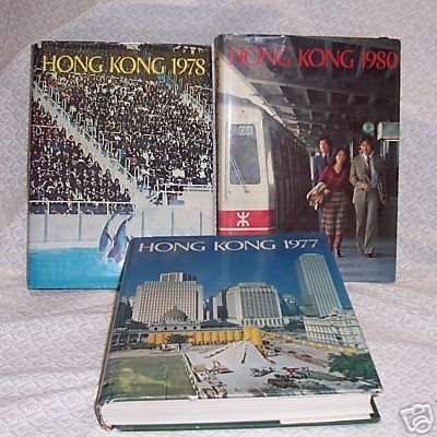 Hong Kong  for the year 1977 1978 1980 3 books