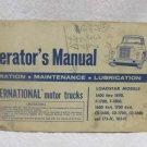 International Motor Trucks Operators Manual