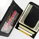 Men's Leather Wallet Credit Card Holder Money Clip Black
