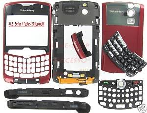 Sprint OEM BlackBerry 8330 Curve Complete Housing Case Burgundy Red