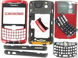 Red T-Mobile RIM BlackBerry OEM 8320 Curve Full Housing Case