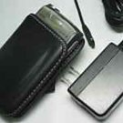 Leather Case+OEM AC Charger Palm Treo 685 690 755p 750p