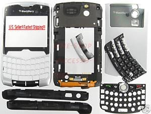 Silver RIM BlackBerry 8330 Curve Complete Housing Cover No Logo