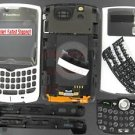 White RIM BlackBerry 8330 Curve Full Housing Case