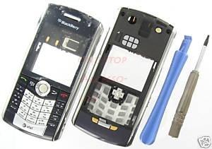 Blue AT&T BlackBerry 8120 8110 Pearl Full Housing Case