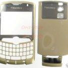 Verizon Gold RIM Blackberry Curve 8330 Full Housing Case