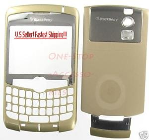 Gold Un-Branded RIM Blackberry Curve 8300 8310 8320 Housing Case