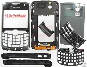 Sprint OEM BlackBerry 8330 Curve Complete Housing Titanium