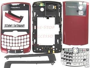 No Logo OEM BlackBerry 8300 8310 8320 Curve Full Housing Burgundy