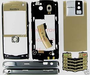Gold RIM Blackberry Pearl 8100 Complete OEM Housing Case T-Mobile