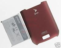 Palm Treo 755 755p OEM Genuine Battery+Back Door Sprint Burgundy Red