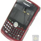 Burgandy No Logo Complete Housing Case For BlackBerry 8330 Curve