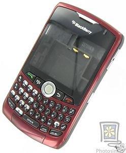 Burgandy No Logo Complete Housing Case For BlackBerry 8330 Curve